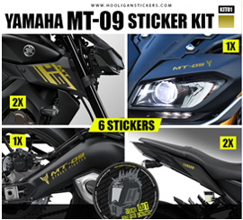 Yamaha MT-09 gold decals package