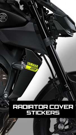 MT-09 radiator side cover stickers